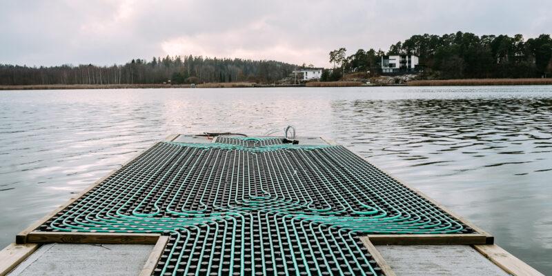 Avantouimareiden laituri lämpiää pian maalämmöllä Ispoisten uimarannalla Turussa