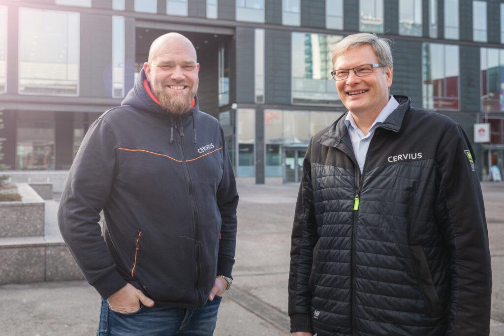 Petri Rantapaju (vas.) ja Hannu Kimiläinen
